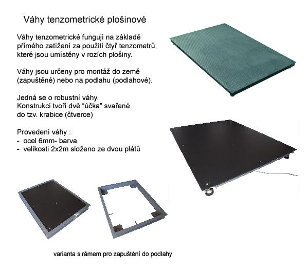 tenzometrická plošinová váha